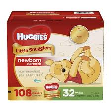 huggies little snugglers newborn baby diapers and wipes starter