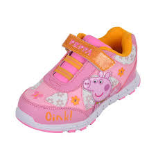 size 5 light up shoes peppa pig girls oink light up sneakers sizes 5 10