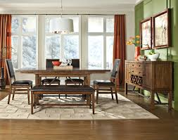 Dining Room Set With Upholstered Chairs by Intercon Santa Clara Counter Height Gathering Table With Self