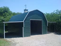 gambrel barn steel building gambrel building with lean to attachments