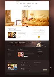 website template verona hotel royal custom design exotic building