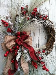 does home depot have their black friday deals on wreaths swags winter christmas wreath for door red and by marigoldsdesigns