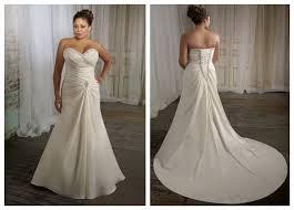 tenue de mariage grande taille robe de mariée grande taille à a ligne en taffetas robe de
