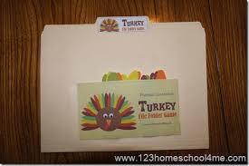 free alphabet turkey file folder