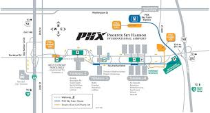 phx map sky harbor international harbor airport parking guides