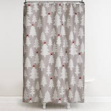 winter wonderland 70 inch x 72 inch shower curtain and hook set