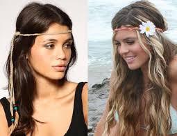 the lighter hair this style with the band and one flower