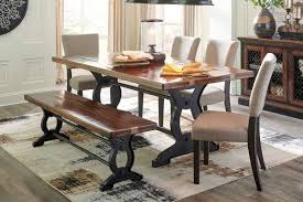 Dining Room Sets With Benches Ashley Zurani Dining Table U0026 Chairs Set Bench D709 25 Oc