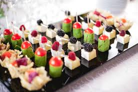 canapes finger food mixed fingerfood and canapes on appetizer table stock photo