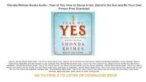 year books free shonda rhimes books audio year of yes how to it out stand i