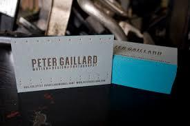 letterpress business cards on fresh impression