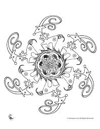 christmas mandala coloring pages reindeer christmas flower