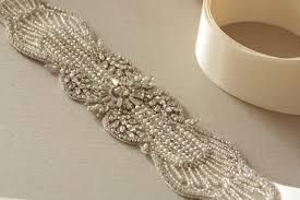 bridal sash art deco sash v4 beads weddings and wedding