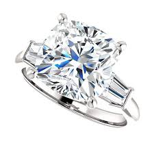 cubic zirconia engagement rings white gold cubic zirconia cz the 5 cushion cut cz ring style