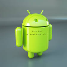 android model official android os logo mascot 3d model robots character