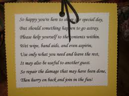Wedding Guest Bathroom Basket Reception Bathroom Basket And Poem Also Made These For Each