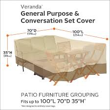 Amazon Patio Furniture Covers by Amazon Com Classic Accessories 55 467 011501 00 Veranda 100
