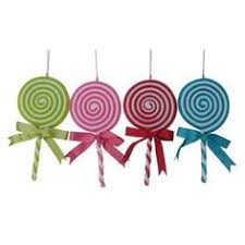 pink and peppermint lollipop ornaments set of 3