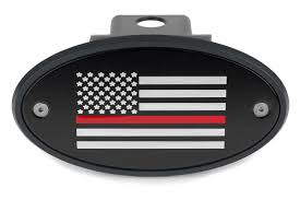 Hitch Flag Thin Red Line American Flag Hitch Cover