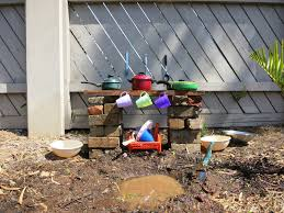 learn with play at home make your own simple backyard mud kitchen