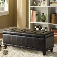 oxford creek modern haslett lift top faux leather tufted storage