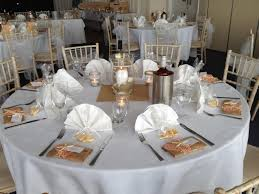 interesting wedding table setting polyester tablecloth