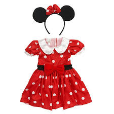 Halloween Costume Minnie Mouse Amazon Disney Baby Girls Polka Dot Dress U0026 Headband Minnie