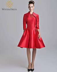 wholesale classic red cocktail dresses lace appliques knee length