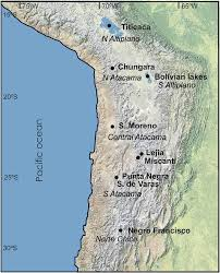 Desert Map Map Of The Atacama Desert And Neighboring Areas In The Central