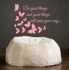 butterfly wall decals quotes do good things and good things zoom