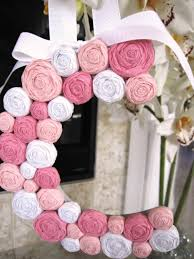 paper flower rosette letter initial monogram wall decor for