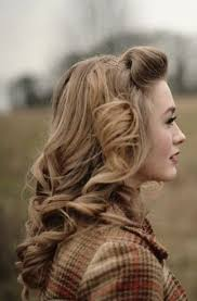 country hairstyles for long hair i wish i could find a less pixelated photo i love her 1940 s hair