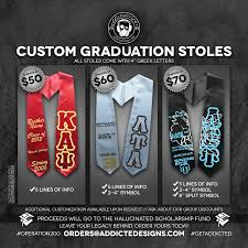 custom graduation sashes purchase custom graduation stole and support creativity