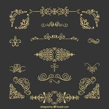 vintage ornaments collection vector free