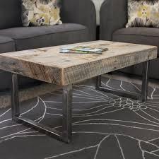 gray reclaimed wood coffee table reclaimed wood coffee table tube steel legs free shipping jw