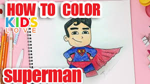 color superman super cute kids love
