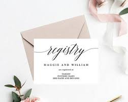 best place wedding registry registry card etsy