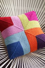 Knit Cushion Cover Pattern Cushion Cover With Squares Knitting Pattern U2013 The Knitting Network