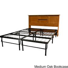 durabed king bed frame with all wood bookcase headboard free
