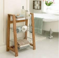 Tiered Bathroom Storage 3 Tier Wooden Bathroom Caddy My Web Value