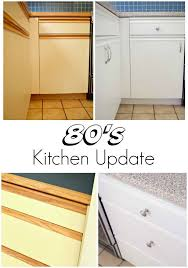 what paint to use on melamine kitchen cabinets 80s kitchen update reveal laminate kitchen cabinets