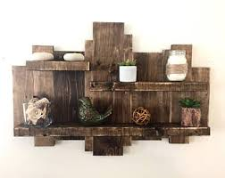 Pallet Floating Shelves by Wood Wall Shelf Floating Shelf Pallet Shelf Wood Wall Art