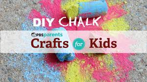 diy chalk crafts for kids pbs parents youtube