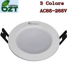 aliexpress buy led downlight 3w 3 colours change color white