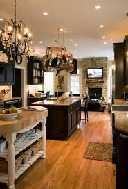 kitchen design with double island seating area and open kitchen