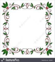 illustration of christmas design holly border square