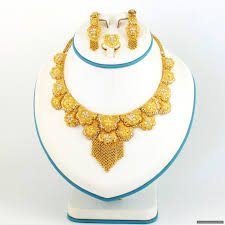 gold jewellery necklace sets images Gold plated silver necklace set 512 00 unclassified indian JPG