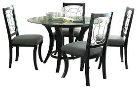 steve silver dining table silver 5 piece round dining room set