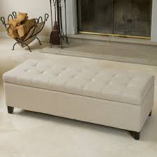 White Bedroom Ottoman Furniture White Tufted Storage Bench Bed Ottoman Bench Tufted