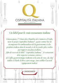 chambre de commerce italienne de ospitalità les restaurants labellisés en côte d azur by
